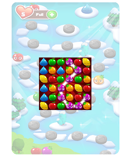 Juicy Fruit Adventure a fantastic farm adventure and addictive completely free game.